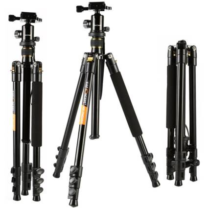K&F Concept Aluminum TM2324 62inch with Ball Head Quick Release Plate DSLR Tripod