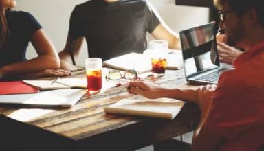 people meeting in startup