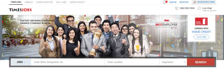 timesjob.com website