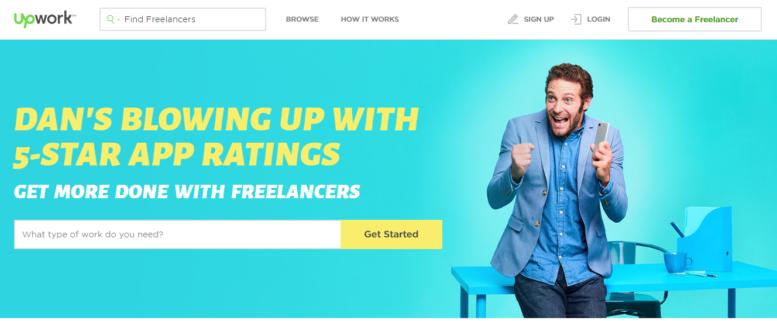 upwork.com website