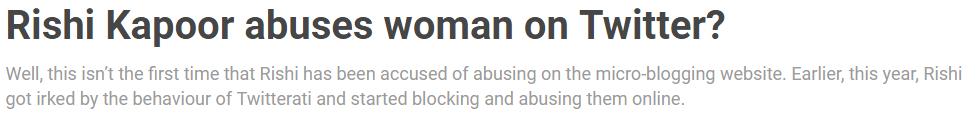 rishi abuse