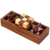 3-in-One Wooden Puzzle