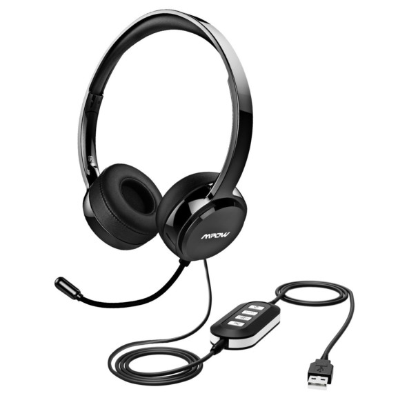 Mpow USB Headset/ 3.5mm Computer Headset with Microphone