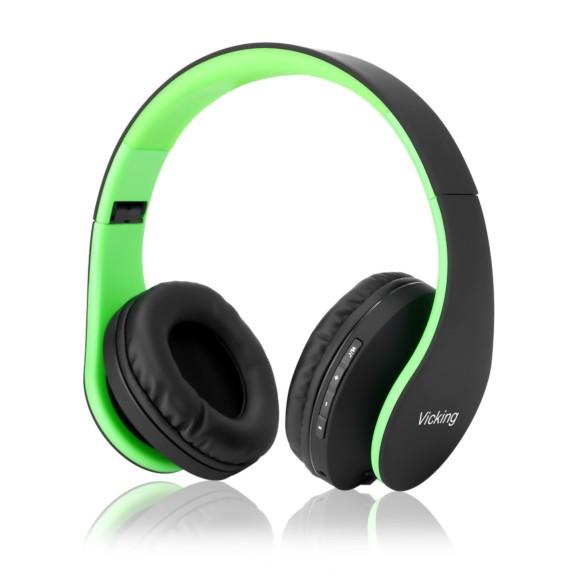 Vicking Bluetooth Headphone Over-Ear, Hi-Fi Stereo Wireless Headset