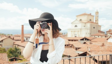 girl using camera