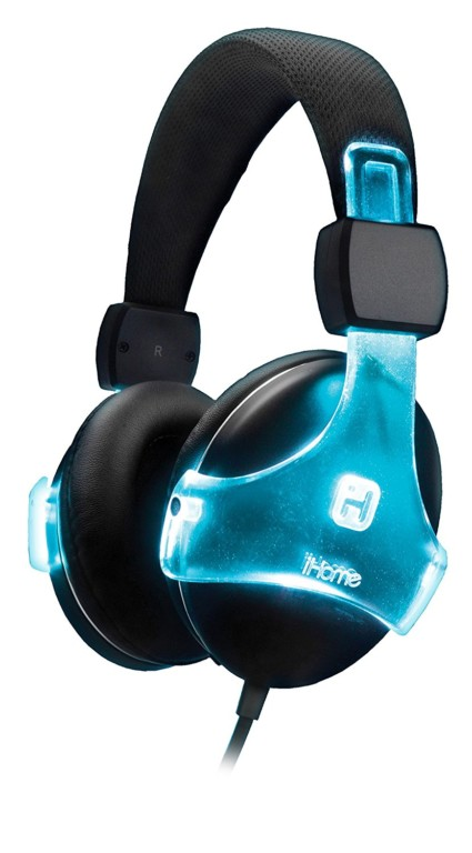 iHome Color Changing Rechargeable Headphones with Mic and Remote