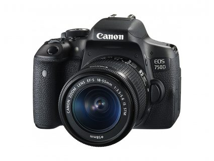 Canon EOS 750D with 18-55 IS STM kit lens