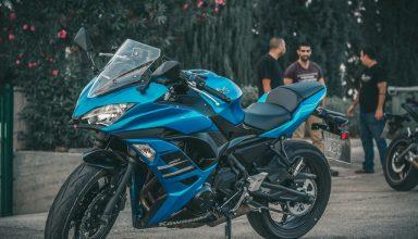 blue colour bike