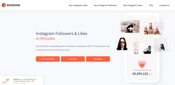 Buzzoid - best site to buy instagram followers