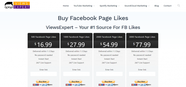 Views Expert - buy facebook page likes