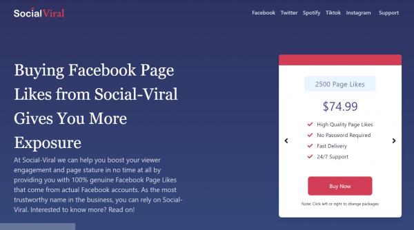 social viral - buy facebook likes