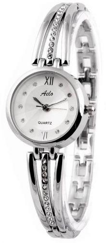 Aelo Silver Metal Strap Chain Bracelet Style Fashion Watch - For Women