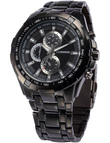 Curren Analogue Black Dial Men's Watch -Cur007