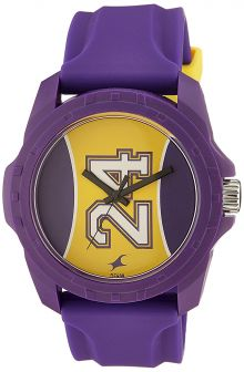 Fastrack Tees Analog Purple Dial Unisex Watch - 38018PP04