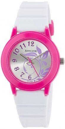 Sonata Analog Silver Dial Women's Watch -NJ8992PP04C