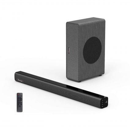 WOHOME 2.1 Channel Soundbar with Subwoofer