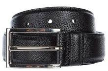 Prada men's genuine leather belt black