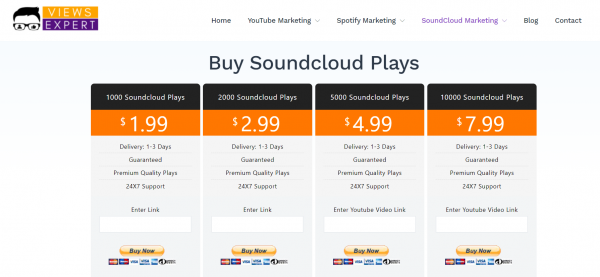 ViewsExpert - buy soundcloud plays