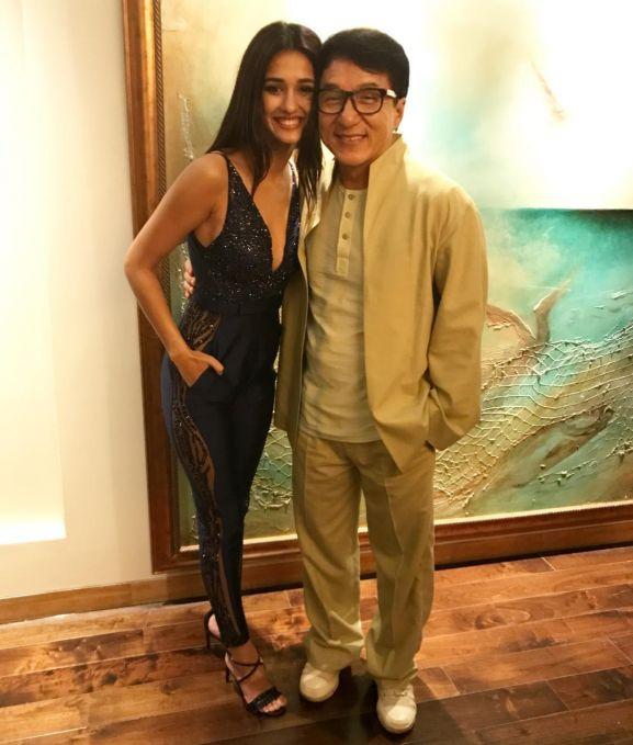Disha with Jackie Chan