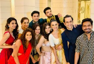 Erica Fernandes with her serial Family