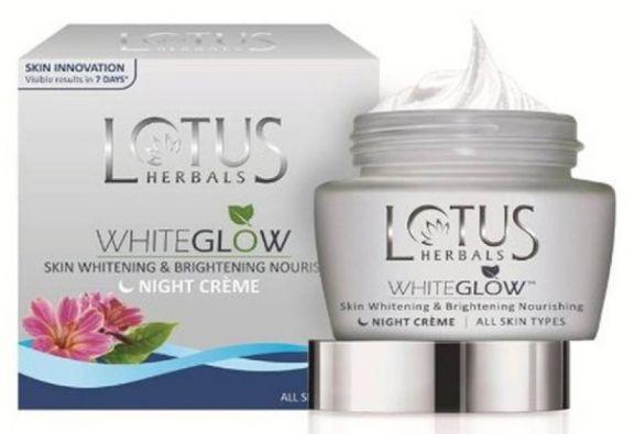 Lotus Herbals Whiteglow Skin Whitening and Brightening Nourishing and Night Cream