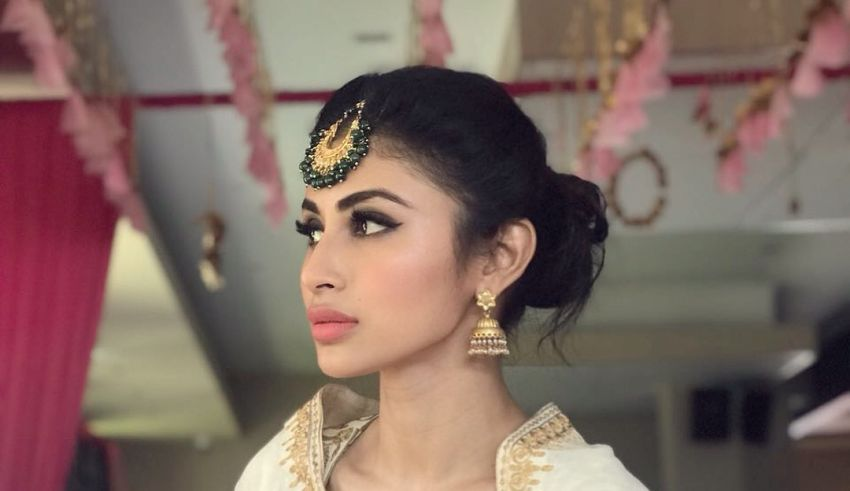 Mouni Roy looking in distance