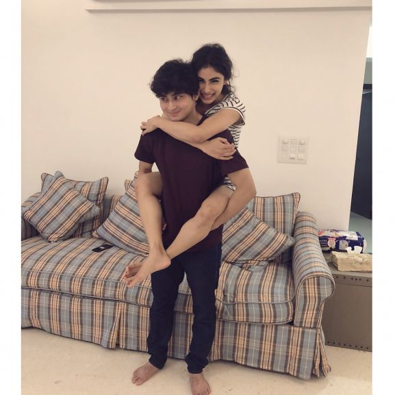 Mouni Roy with brother Mukhar