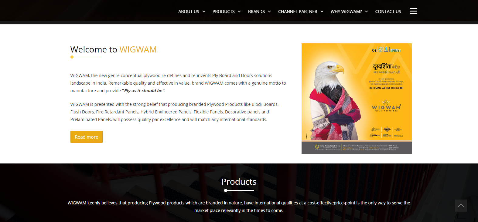 Wigwam Plywood Company Best Plywood Brand Available in India
