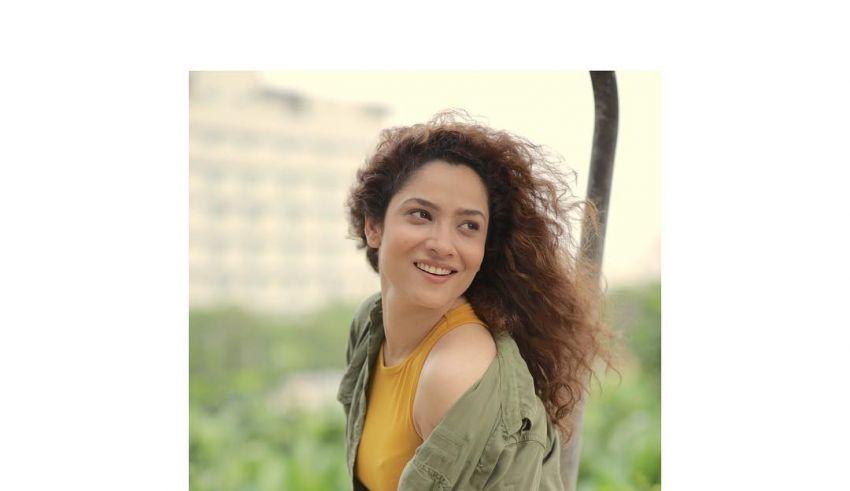 Ankita Lokhande in yellow dress