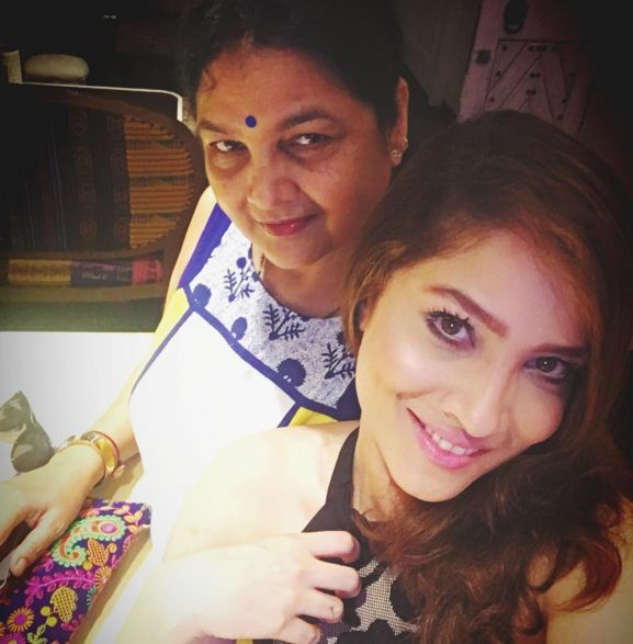 Ankita with mother