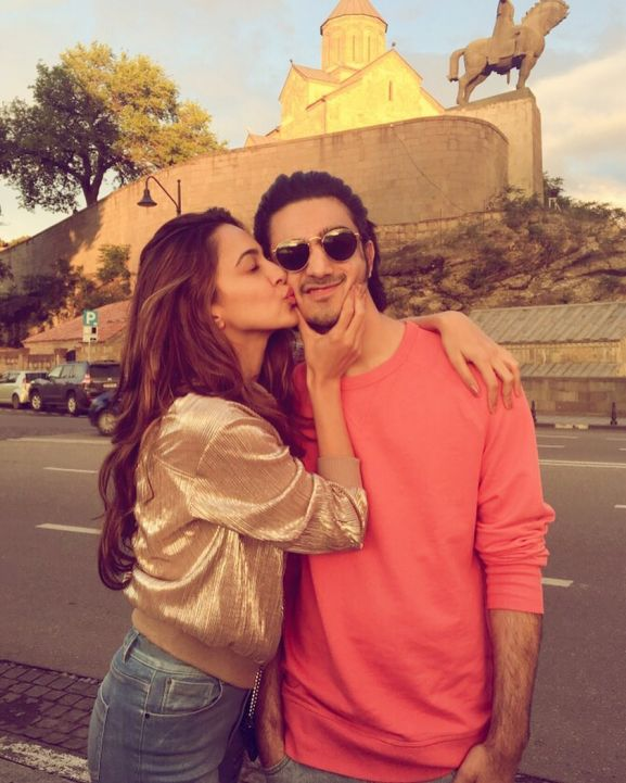 Kiara Advani with brother