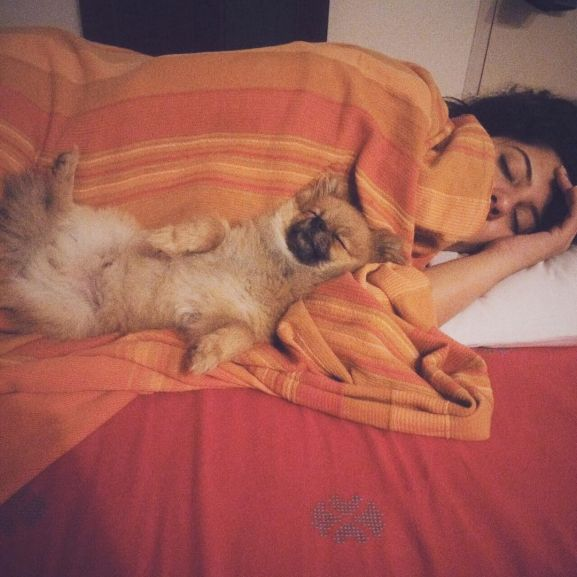 Sanya Malhotra with pet dog Bruno