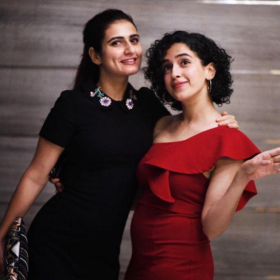 Sanya Malhotra with Fatima Sana Sheikh