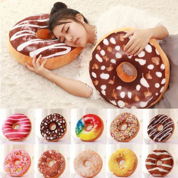 SweetTooth Donut Pillow