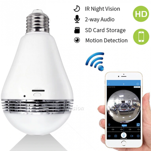 Lightbulb Spy Cam