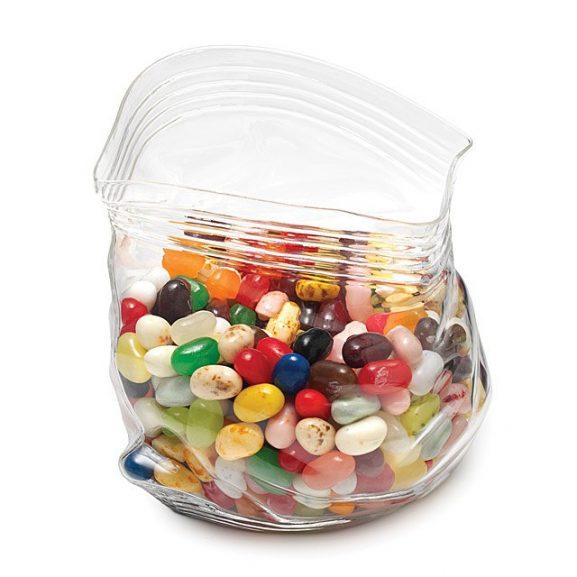 Unzipper Glass Zip Candy Holder