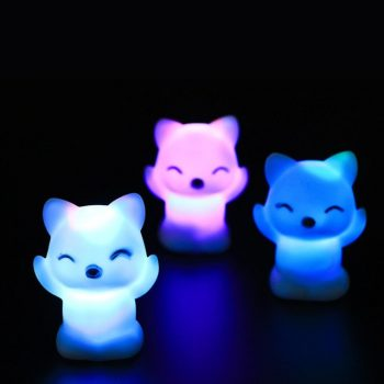7 Changing Colors Lovely Fox Shape LED Night Light led