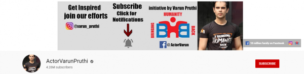 Actor Varun Pruthi: Best Social Channel