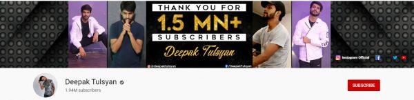 Deepak Tulsyan: Best Dance Channel