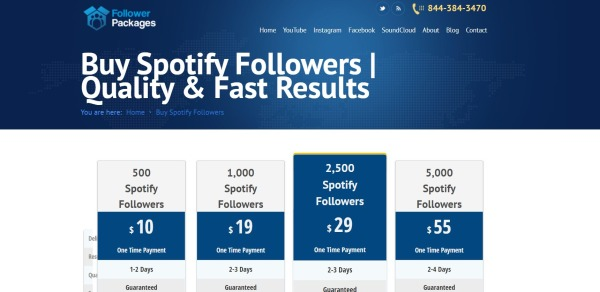 Followers Packages - Buy Spotify Followers