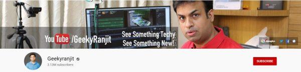 Geeky Ranjit: Best Tech Channel