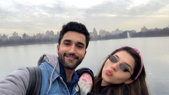 Mehreen Pirzada with brother