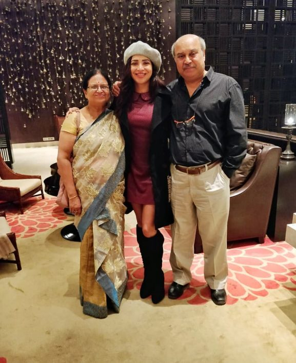 Plabita Borthakur with parents