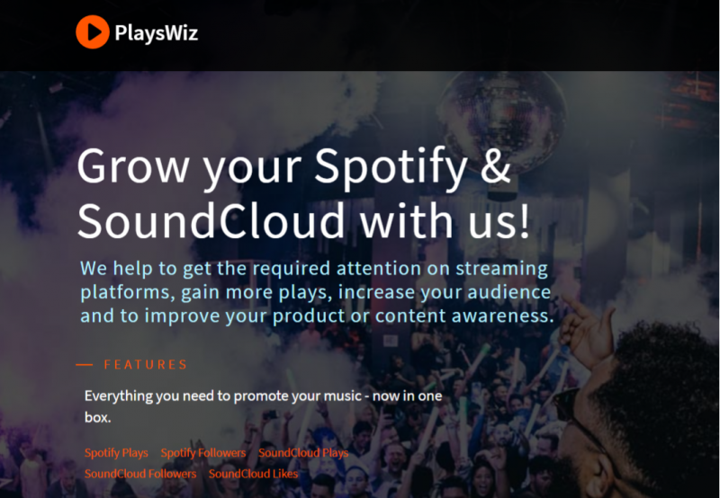 PlaysWiz (Best site to buy spotify plays)