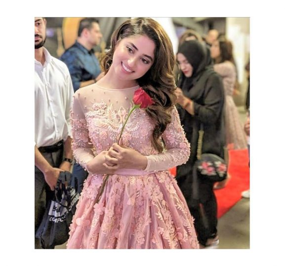 Sajal Ali in pink dress