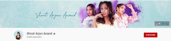 Shruti Arjun Anand: Best Beauty Tips Channel