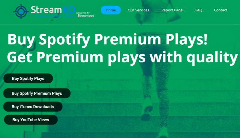 StreamKO (Best site to buy spotify plays)