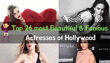 Top 26 most Beautiful & Famous Actresses of Hollywood
