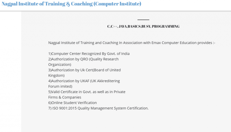 Nagpal institute of training and coaching