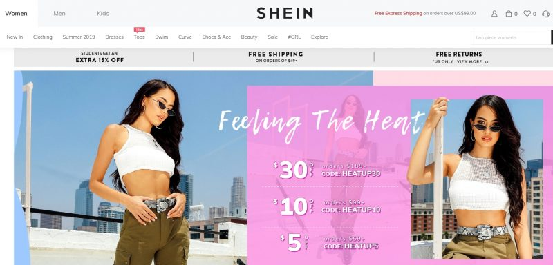 Shein Store Like Princess Polly